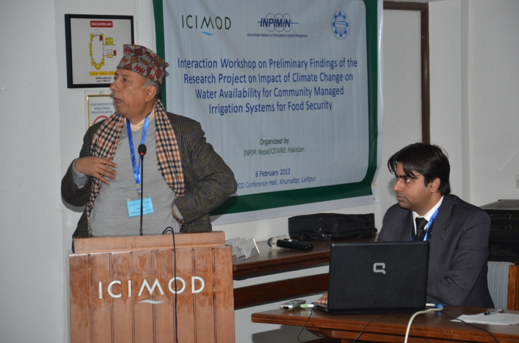 Presentation of Findings of the Climate Change Workshop at ICIMOD